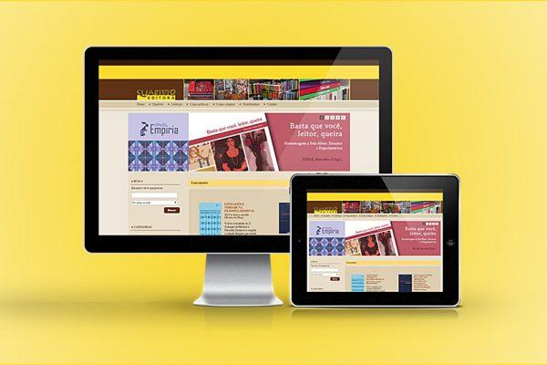 Site Quarteto Editora